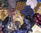 Assorted Italian Silk Printed Neckwear Fabric Scraps-1/2 lb. Bag