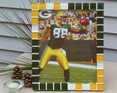 "Green Bay Packers--mosaic picture frame--holds a 8""x10"" photo"