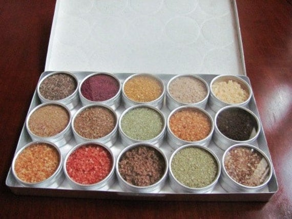 SALE 25% Off - Large Gourmet Sea Salts - A little bit of everything
