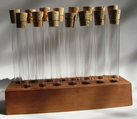 Empty 15 piece test tube spice rack.