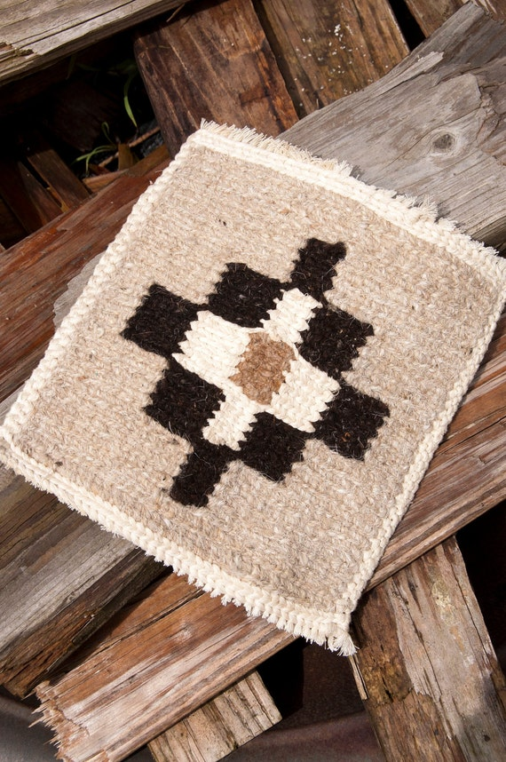 Rustic Mexican Weaving Southwestern Kitsch Native Style Rug