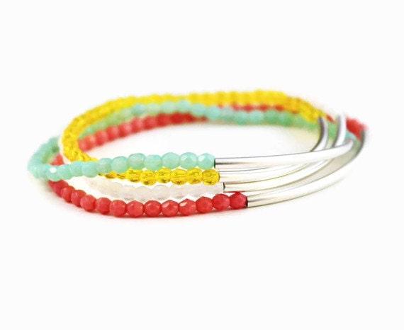 Balance Bar Bead Bracelets - Pick 3 - Your Choice of Colors