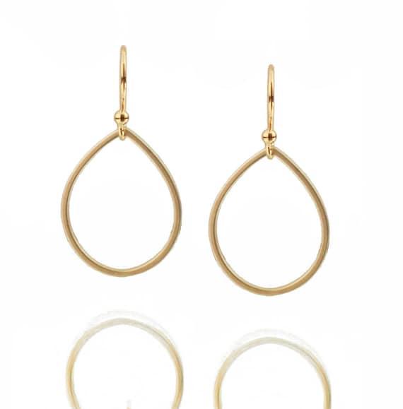 Simple Gold Earrings - Teardrop Earrings