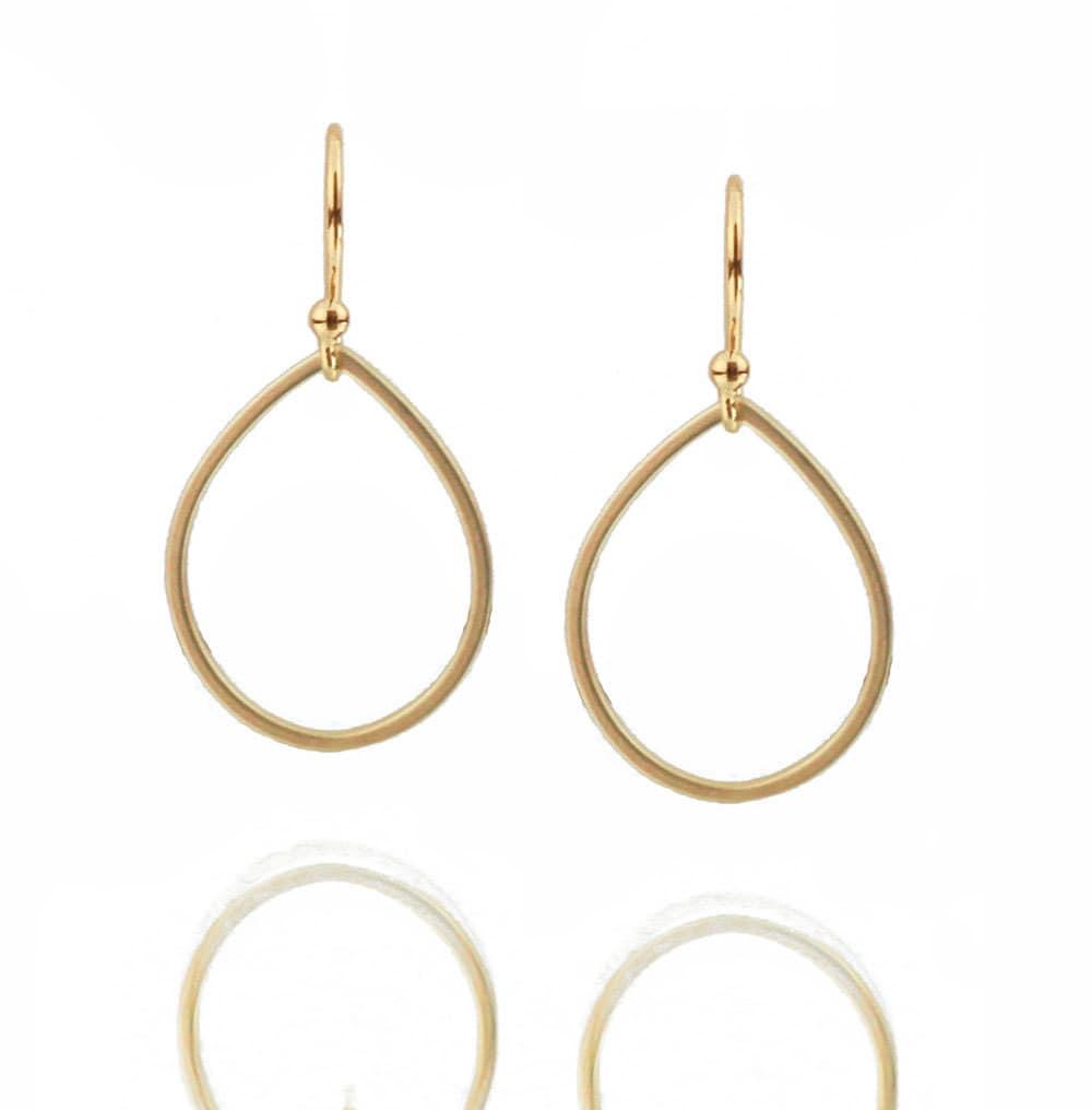 simple gold earrings teardrop earrings by nauticalwheeler