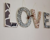 Custom Hanging Love Letters-Love is Wild Theme-wooden letters, Wedding gifts, home decor