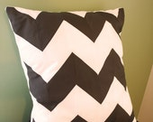 Chevron Stripe Pillow Cover - Brown - Coffee and Cream -  Any Size - Any Color