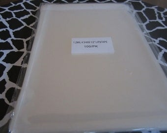 100 Cellophane bags 4 3/4 x 6 1/2 lip and tape resealable cello bags. Great for Jewelry, or any small Treasure