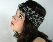 Leopard Print Turban Headband Head Wrap