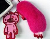G022-1pc GLOOMY BEAR Claw Plush Soft Toy Fuchsia