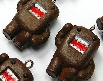B569- 4pcs Chocolate Monster Plastic Charms