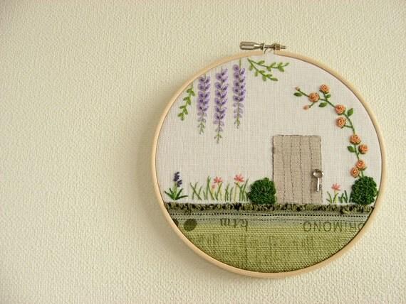 Secret Garden Original Embroidery Wall Art