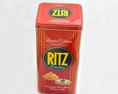 Ritz Crackers tin box 1986