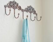 Wall hanger hook antiqued