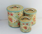 RESERVED FOR KAREN - Tin Canisters Holland floral