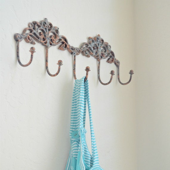 Wall hanger hook antiqued