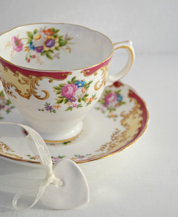 Vintage Tuscan tea cup and saucer fine English bone china