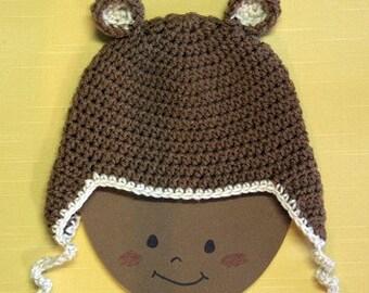 Me and my Teddy Bear earflap hat
