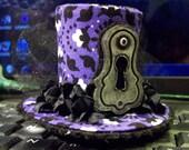 Mini Top Hat Barrette Steampunk Lolita Purple and Black Barrette
