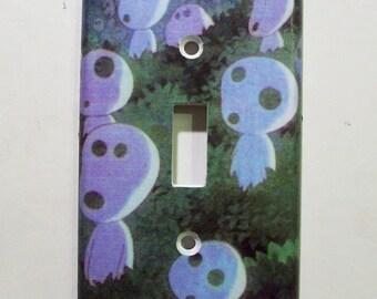 Kodama Tree Spirits from Princess Mononoke Light Switch Cover - Switchplate - Switch Plate Cover