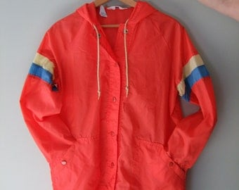 Vintage Red Lightweight Jacket Size Large Brigham Sportswear