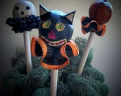 3 Primitive Halloween Picks Set 2