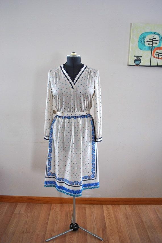 SALE 1970s Dress / Vintage 1970s Floral Dress / Vintage Dress