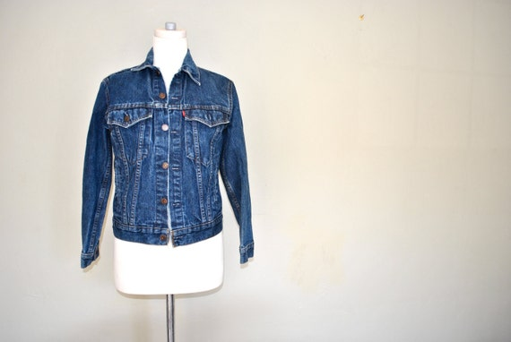 Levi Strauss & Co Denim Jacket / Ladies XS Denim Jacket / Vintage Levi Jean Jacket 70706 0216