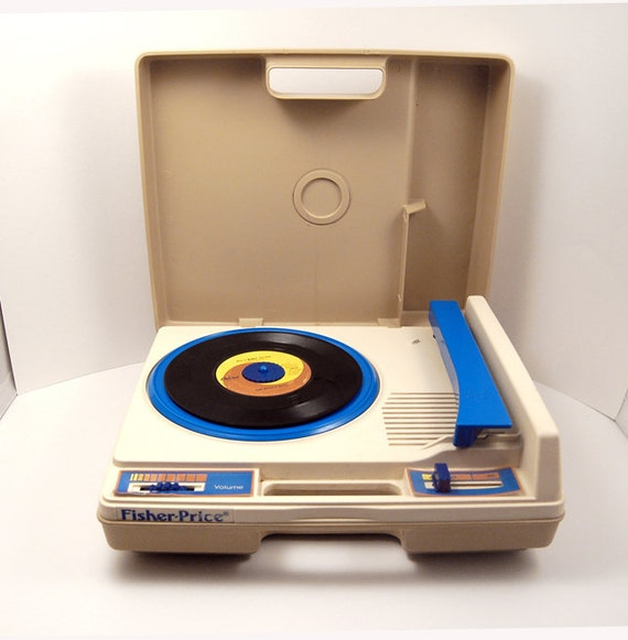 Vintage Fisher Price Childrens Record Player