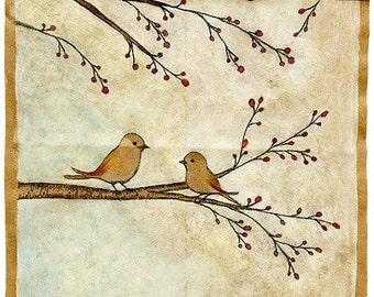 Birds on Berry Tree