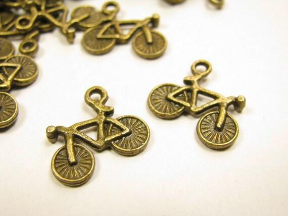 20pcs Metal Antique Tone Charms Bike Bicycle