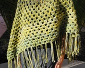 Moss Green Crocheted Pancho by Bhudi