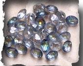 Vintage 9 x 7 Swarovski Crystal Bermuda Blue Cabachons