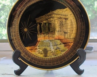 24 K GOLD   PORCELAIN PLATE made in Greece