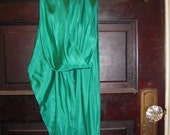 Emerald Silk Scarf/ Belt/ Head Wrap- Made to order