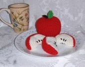Sale Crochet Apple with Slices