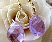 Carmina Crystal Pink/Purple Briolette Earrings