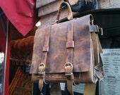 Greenwich backpack, handmade leather bag, small leather rucksack, handmade leather backpacks and satchels handmade by Aixa Sobin, bag maker