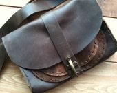 JFK messenger, handmade leather bag, mini messenger, handmade leather tablet/iPad shoulder bags and messengers by Aixa Sobin, bag maker