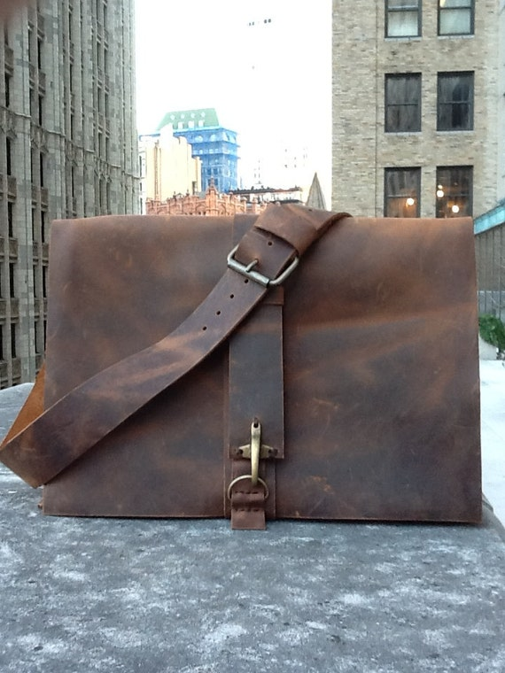 McDougal Messenger / leather messenger bags / messengers and satchels / handmade leather satchel / leather laptop bag / american made