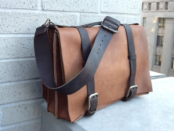 Large Mens Briefcase,  Professional Business Travel Briefcase, Travel Bag for Men, Handmade Leather Business Bags and Briefcases