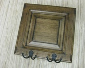 Reclaimed Wood - Wall Hanger, Rustic Brown wood door - upcycled decor - wall decor