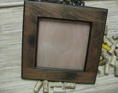 DIY Wine Cork Bulletin Board Kit - made from reclaimed wood - brown - gifts under 25