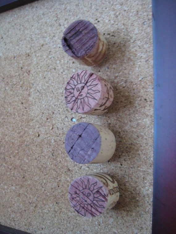 Upcycled Wine Cork Tacks - sun lot