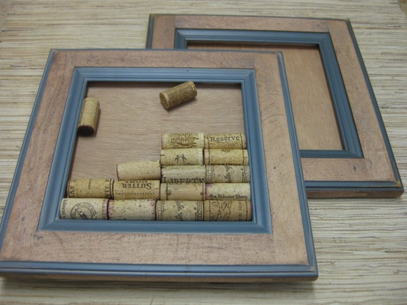 DIY Wine Cork Board Kit - made from reclaimed wood cabinets