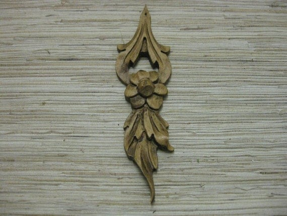 Wood Flower - handcarved made from reclaimed wood - ecofriendly home decor or holiday ornament