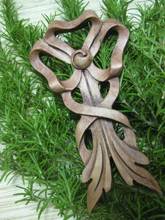 Holiday Tree Ornament - made from handcarved reclaimed wood