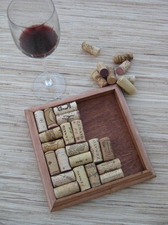 Crafts for wine corks diy wine cork trivet reclaimed wood for Wine cork diy ideas