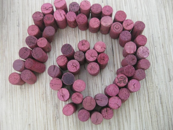 RESERVED Pink Wine Corks - eco CRAFT supply, upcycle, crafting, DIY, fuchsia