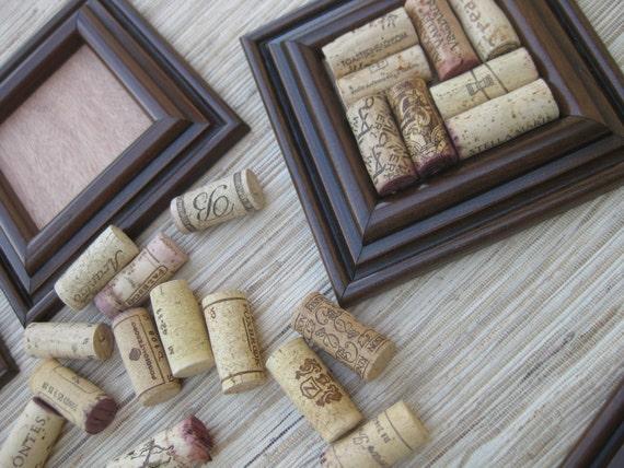 Wine cork coaster craft set diy dark brown on reclaimed wood for Cork coasters for crafts