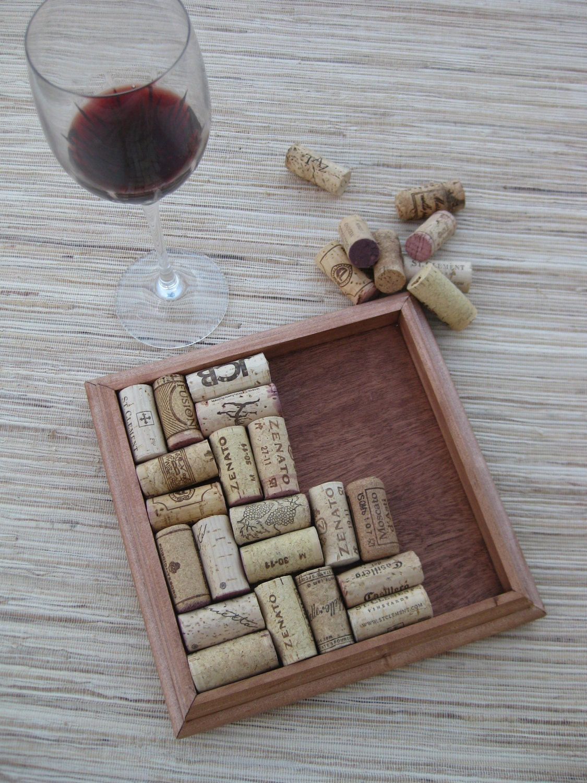 Crafts for wine corks diy wine cork trivet reclaimed wood for Diy wine cork projects